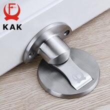 Kak porta magnética pára 304 porta de aço inoxidável rolha porta escondida suportes de captura chão prego-livre doorstop móveis ferragem