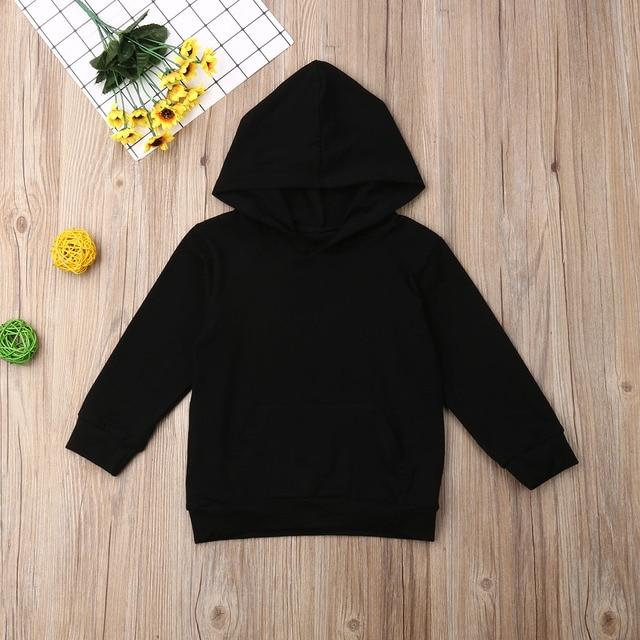 1-6Y Kids Baby Boy Girl Long Sleeve Back Letter Print Hooded Sweatshirt Hoodies Tops Autumn Clothes 2