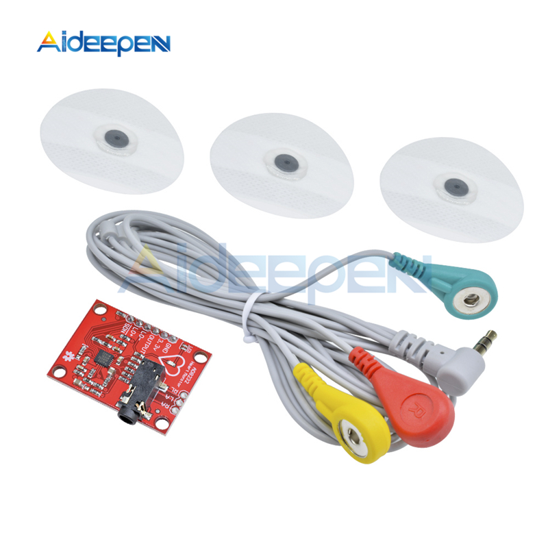 1 Set AD8232 <font><b>ECG</b></font> Measurement Pulse Heart <font><b>ECG</b></font> Monitoring Sensor Module For <font><b>Arduino</b></font> DIY Kit image