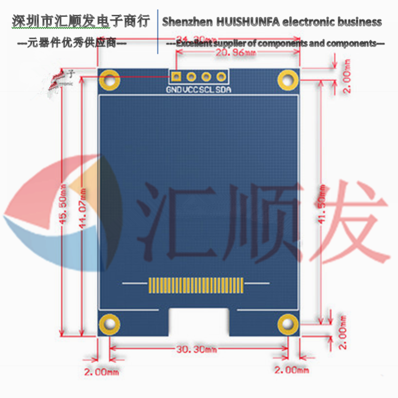 1.5 inch <font><b>OLED</b></font> LCD screen module white <font><b>SSD1327</b></font> driver I2C communication compatible with UNO R3 STM32 image