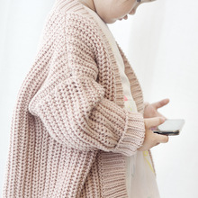girls sweater cute baby knitted pink cardigan children wool clothes warm coat  spring autumn winter Open Stitch V-Neck gifts