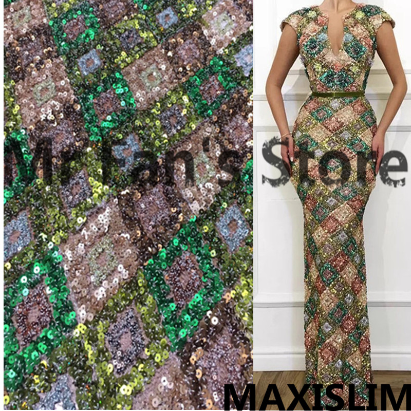 DIY High Quality Diamond Foam Show Sequin Fabric For Important Occasions Banquet 3MM+5MM White Velvet Base Material 130CM Wide