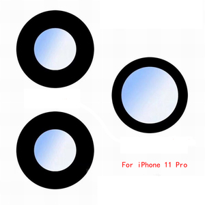 Image 5 - ZONBEMA عدسة الكاميرا الخلفية الزجاجية مع ملصق ، قطع غيار لهاتف iPhone 6 6S 7 8 11 Pro Plus X XR XS Max ، 100 قطعة