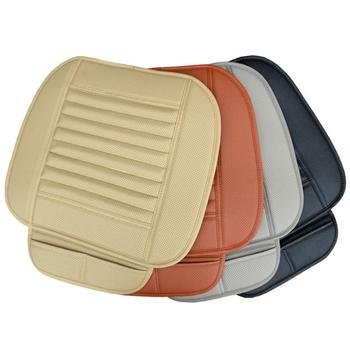 Car Seat Cover Breathable PU Leather Bamboo Charcoal Car Interior Seat Cover Cushion Pad for Auto Supply Office Chair Universal car front seat cover pad pu leather car seat mat chair cushion car interior protective cover car seat soft cover