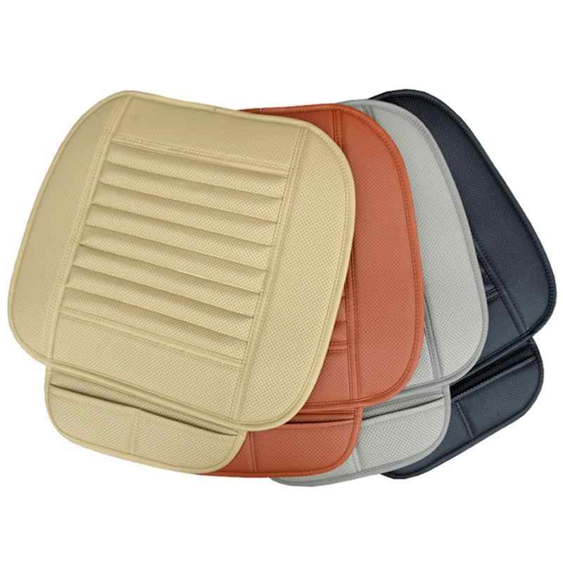 Kursi Mobil Penutup Breathable PU Kulit Bambu Arang Mobil Interior Kursi Penutup Bantal Bantalan untuk Auto Persediaan Kursi Kantor