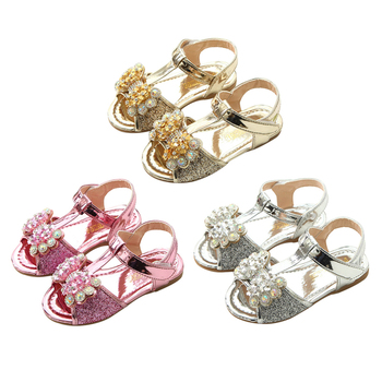 Baby Girl Sandals Summer Patent Leather Fashion Toddler Walking Shoes Soft Sole Non-Slip Prewalkers