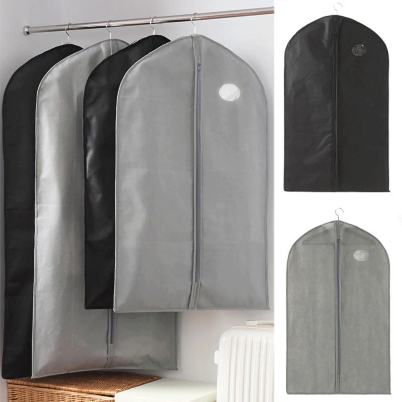 1PC Breathable Garment Suit Dress Coat Shirt Clothes Dust Cover Travel Bags Carrie Non-Woven Coat Dust Cover