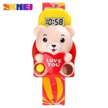 SKMEI милый 3D мультфильм медведь 5 бар водонепроницаемый цифровой дети часы дети спорт часы для девочек мальчиков часы Рождество подарок 1748