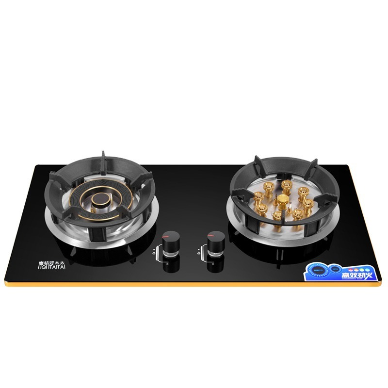 Domestic Dual-cooker Bulit-in Gas Hobs Liquefied And Natural Gas Hotpot Stir-fly Steam & Boil