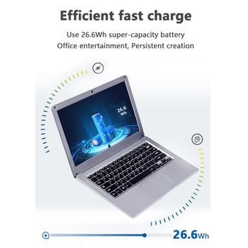 KUU SBOOK M1 13.3 inch Intel J3455 Student Laptop Notebook 6GB RAM 128GB SSD Laptop Windows 10 Intel Celeron J3455 Wifi Computer 4
