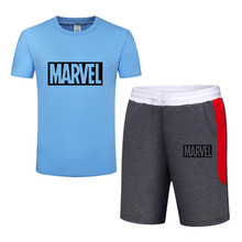 Top Brand Mens Sets summer T-shirt+shorts Print Men Clothing Two piece suit Sportswear Tracksuit Gyms shorts Set
