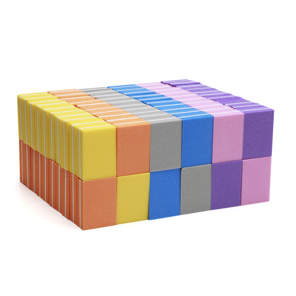 100Pcs set Nail Buffers File Mini Nail File Blocks Multi colors Sponge For UV Gel Nail Polish Sanding Buffer Strip Manicure TF28 in Nail Files Buffers from Beauty Health