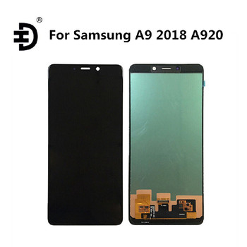 "6.3"" HD AMOLED LCD Display For Samsung Galaxy A9 2018 A920 A920F LCD Touch Screen Digitizer For SAMSUNG SM-A920F LCD Screen"