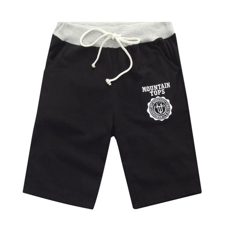 CHSDCSI Brand New Shorts Men Cotton Loose Casual Shorts Black Classic Casual Beach Shorts Summer Elastic Waist Plus Size Shorts