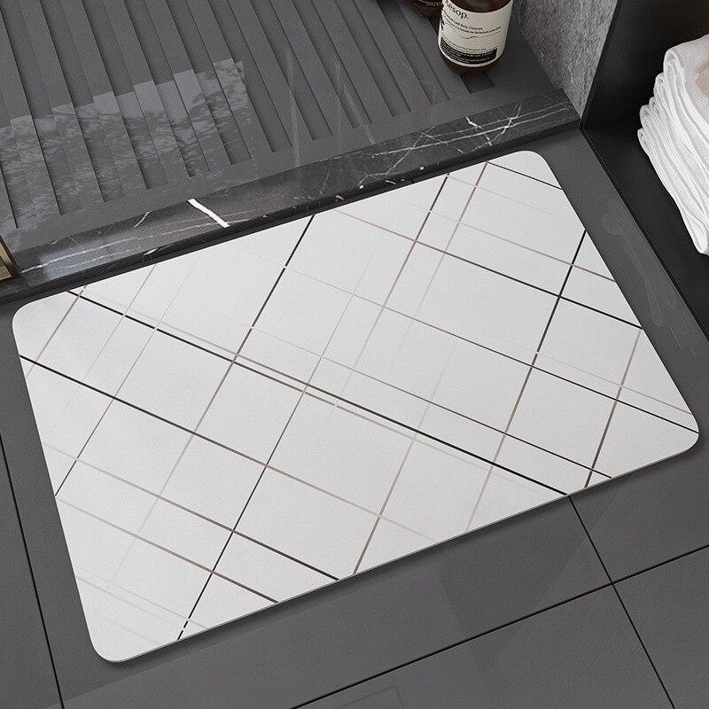 Eovna Ванная комната быстрой сушки диатомовых грязи напольный коврик нескользящий коврик для душа Ванная комната мягкой глины на коврике ара...