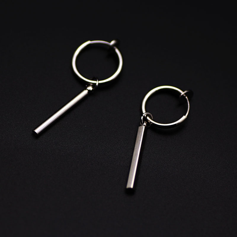 Male 2020Korean Version Of Studs Men Without Piercing Students Street Single Ear Ring Male Trend Personality Men's Word Ear Clip