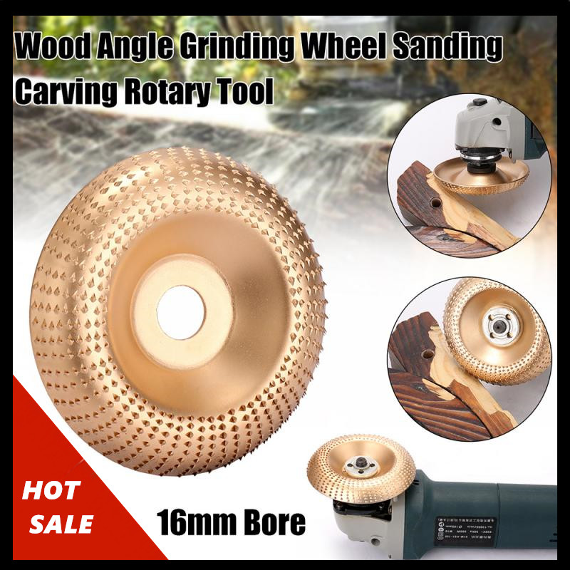Wood Grinding Wheel High Quanlity 100mm X 16mm For Angle Grinder Bore Rotary Disc Sanding Wood Carving Tool Abrasive Disc Tools