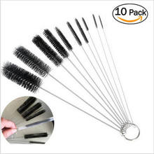 10Pcs Portable High Quality Household Bottle Brushes Pipe Bong Cleaner Glass Tube Cleaning Brush Sets(China)