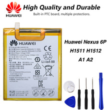 Original Huawei HB416683ECW Phone battery For Huawei Nexus 6P H1511 H1512 A1 A2 3450mAh стоимость