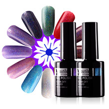 Beautilux 1 PC Hologram Pelangi Gemerlapnya Gel Nail Polish Rendam Off UV LED Hologram Gel Pernis Kuku Seni Polandia Lacquer 10 Ml(China)