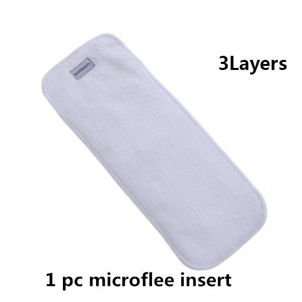 [Simfamily] 1 шт. многоразовые тканевые подгузники, регулируемые детские подгузники, моющиеся подгузники, подходят для 3-15 кг детские подгузники - Цвет: 1pc diaper insert