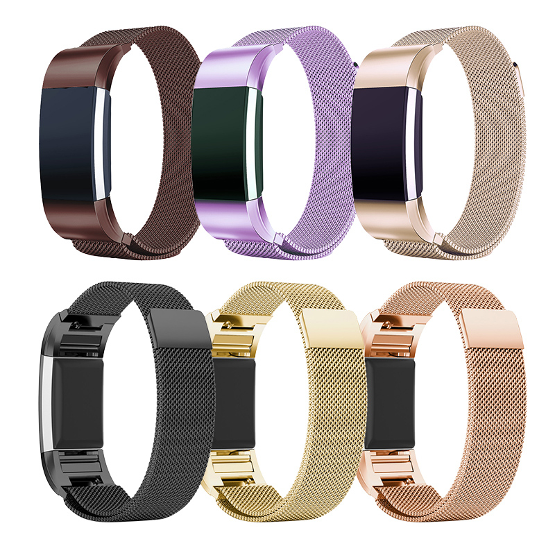 Stainless Metal Strap Band For Fitbit Charge 2 Magnetic Smart Watch Wrist Straps Smart Bracelet For Wrist Strap Bracelet