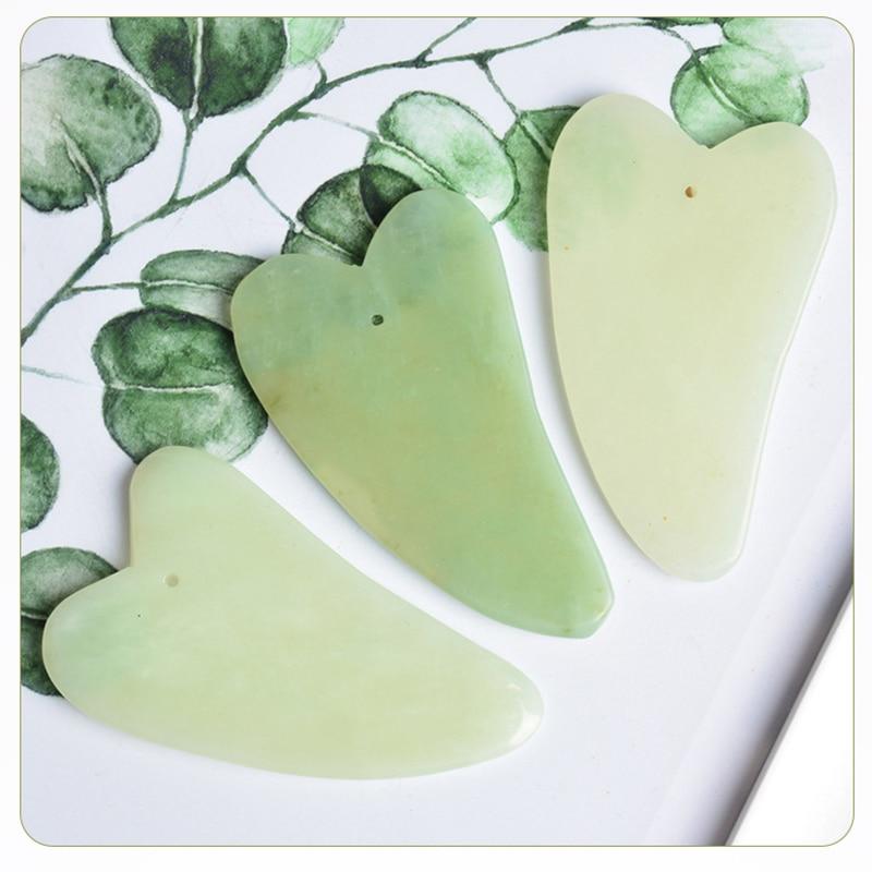 natural Jade Guasha Plate Natural Jade Gua Sha Stone Board Massage Face Massager Scrapers Tools For Face Neck Back Body