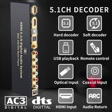 HD815B HDMI 5.1 ses dönüştürücü dekoder DAC DTS AC3 FLAC APE 4K * 2K HDMI HDMI Extractor Converter splitter dijital SPDIF ark