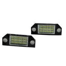 Auto wayfeng wf 2 pçs 12v branco 24 led número da placa de licença lâmpada luz para ford focus C-MAX mk2 fonte de luz do carro