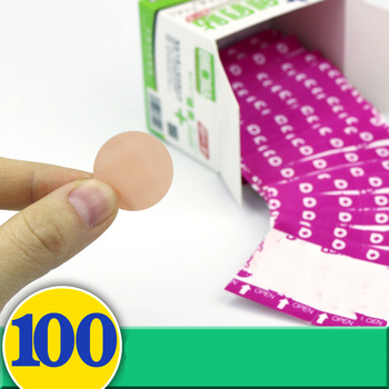 aid одиночество 100pcs/set Waterproof Breathable Band Aid Mini Round Band Aid Adhesive Bandages First aid kit For Children Diameter 22mm