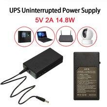 5v fonte de alimentação ininterrupta 2a 14.8w multiuso mini ups bateria backup de segurança em espera fonte de alimentação para câmera roteador
