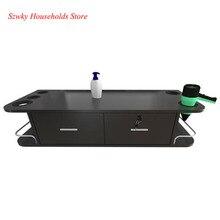 USA Warehouse Two Smoke Wall  Mounted Beauty Salon Table Furniture Accessory Black Color