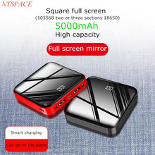 Mini LED light full screen LCD display charging treasure large capacity For iPhone/Samsung dual USB portable mobile power supply