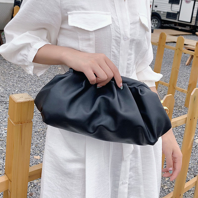 Solid Color Elegant Crossbody Bags For Women 2021 Small Clutch Female Party Handbags and Purses Lady Shoulder Simple Bag