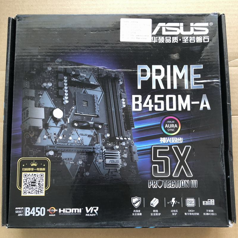 ASUS PRIME B450M-A Desktop Computer Motherboard AM4 M-ATX AURA RGB USED Original