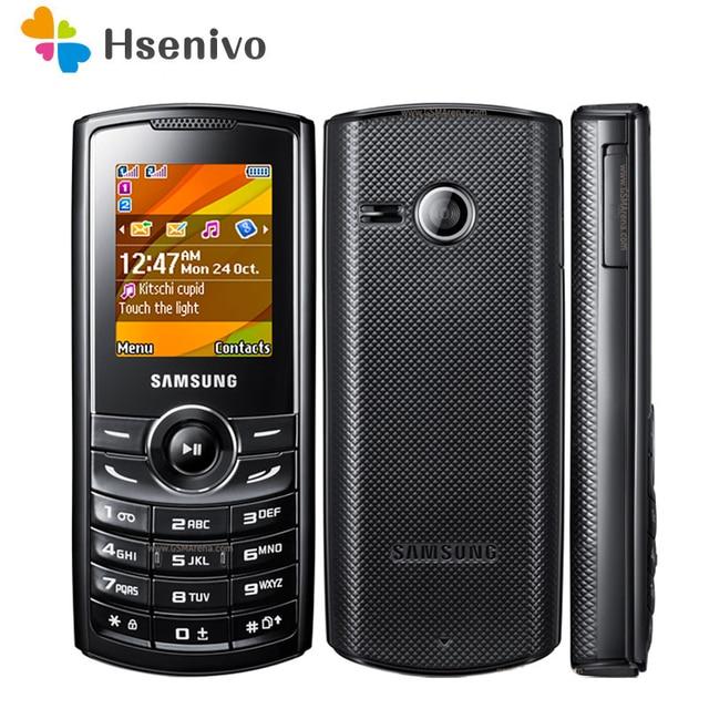 E2232 100% Original Samsung E2232 Mobile Phone 1.77 Inch 0.3MP FM Radio Bluetooth 1000mAh Dual SIM Cards one year warranty