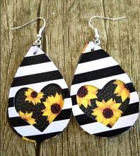 New 2020 Woven leather earrings Leather Statement Earrings for Women fashion Jewelry 25 color Weaving Drop Earrings