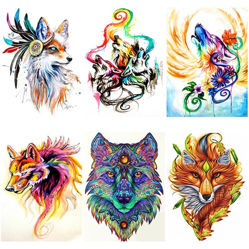 Купить diy 5d diamond painting wolf embroidery bird animal cross stitch