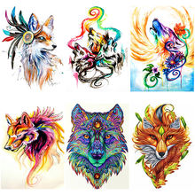 Diy 5d diamond painting wolf embroidery bird animal cross stitch