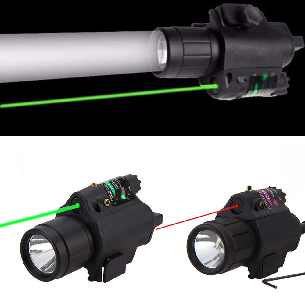 Green/Red Laser Sight LED Flashlight with 20mm Picatinny Rail Mount for Glock 17 19 22 Hunting Rifle-0