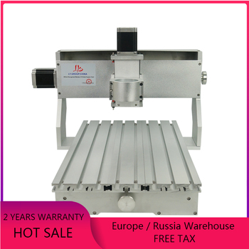 цена на DIY mini cnc milling machine 3040 metal engraving machine cnc router frame with 65mm Spindle motor clamp