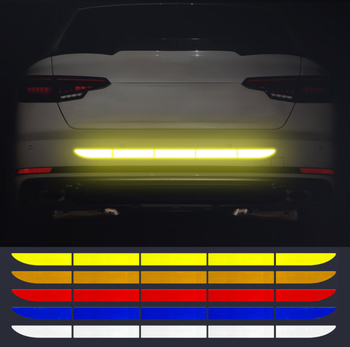 Car Trunk Reflective Strip Stickers for Mercedes Benz S550 S500 IAA G500 ML F125 E550 E350 W205 W201 B200 B150 image