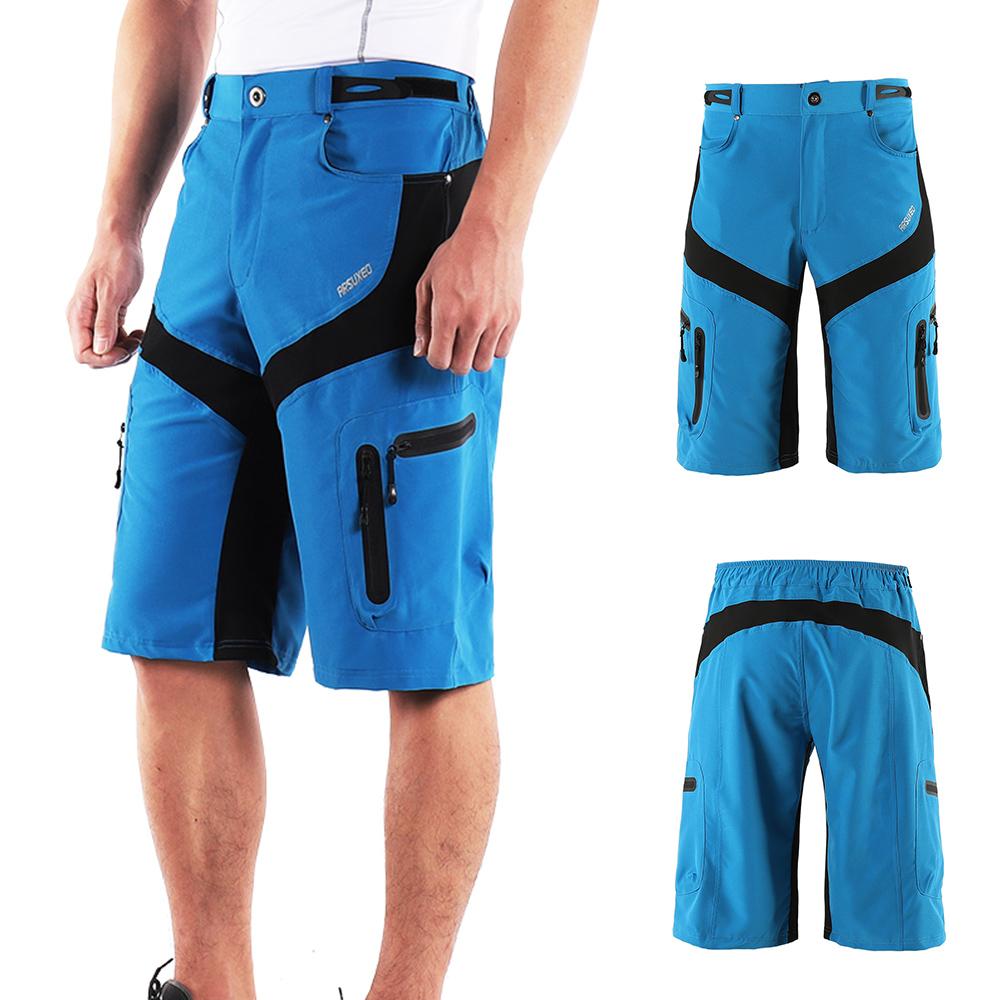 Men Cycling Shorts Quick Drying Breathable Outdoor Sports Running Bike Riding Casual Shorts With 6 Pockets