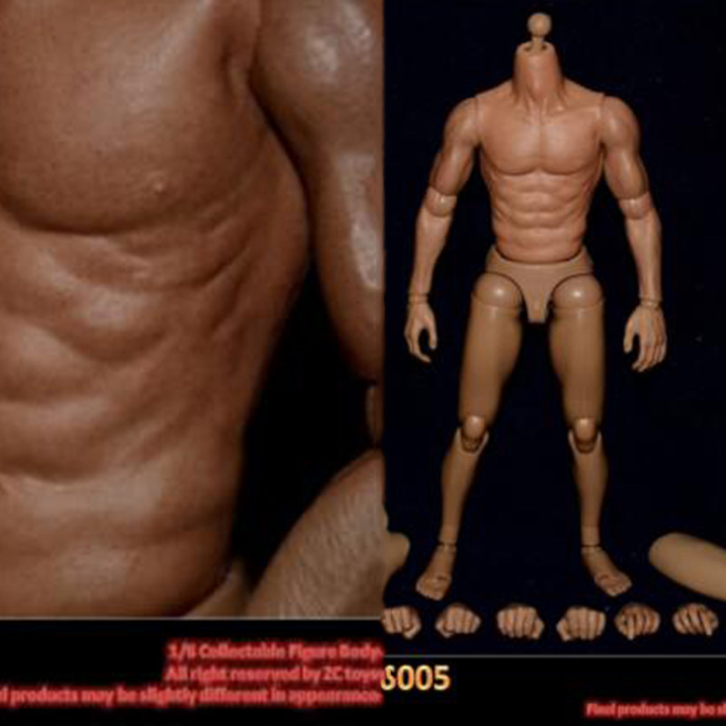 Wide Shoulder Muscular Chest Muscle 1:6 Action Figure Male Body for TTM18 TTM19