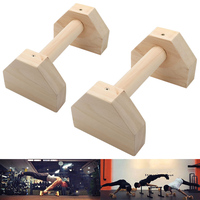 2pcs Pushup Stands Solid Exercise Wooden Push Up Bars Women Men Protable Gym Gear Equipment FH99