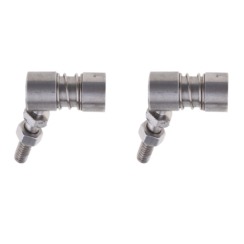 2Pcs Stainless Steel Grade 304 Control Cable Throttle Ball Joint Boat Parts