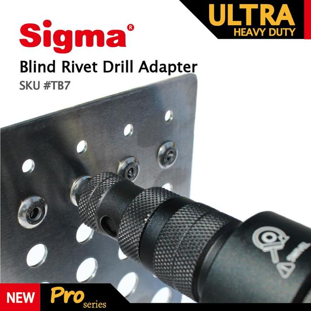 Sigma #TB7 ULTRA HEAVY DUTY Blind Pop Rivet Drill Adapter Cordless or Electric power drill adaptor alternative air rivet gun