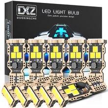 Dxz 10 pces t10 w5w lâmpadas led 9-smd canbus 12v/24v 6000k branco 194 168 carro interior mapa dome luzes luz de estacionamento lâmpada de sinal automático