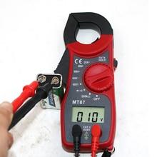 Цифровой мультиметр-зажим AC/DC напряжение тока транзистор тестовый er измеритель мощности Ампер клещи тестовый токовый зажим