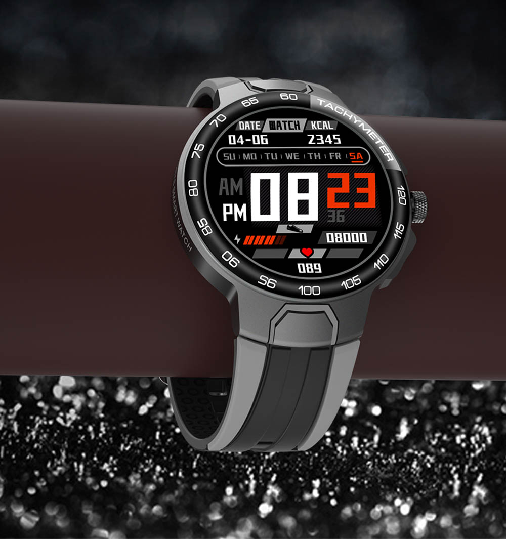 H316f528ec98a4062924d80d3dadceab4O Smart Watch Men Women IP68 Waterproof Bluetooth 5.0 24 Exercise Modes Smartwatch E1-5 Heart Rate Monitoring for Android Iosr A